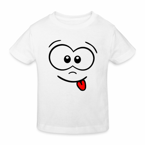 Gesicht Zunge rausstrecken - Kinder Bio-T-Shirt