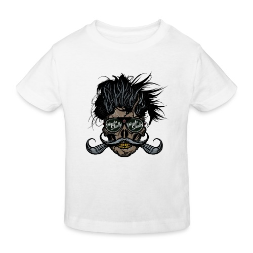 hipster skull tete de mort crane barbu moustache - T-shirt bio Enfant
