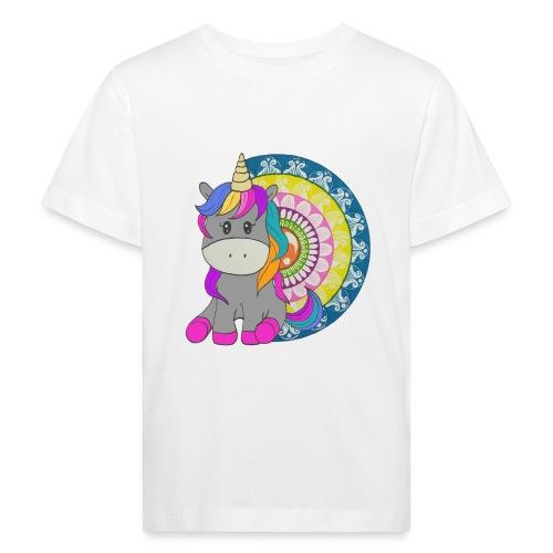 Unicorno Mandala - Maglietta ecologica per bambini