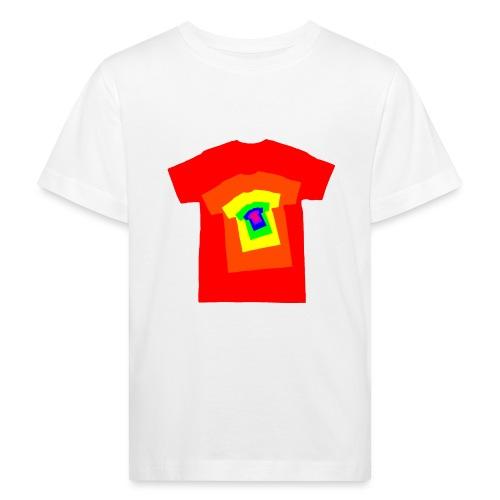 Rainbow T Shirt Spiral - Kids' Organic T-Shirt