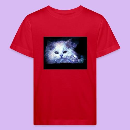 Gatto bianco glitter - Maglietta ecologica per bambini
