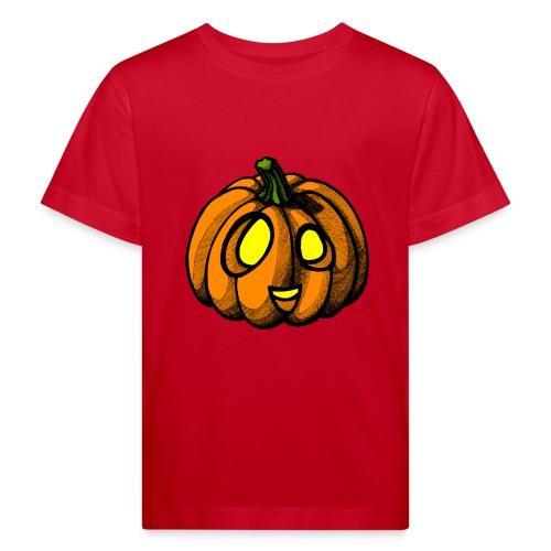 Pumpkin Halloween scribblesirii - Lasten luonnonmukainen t-paita