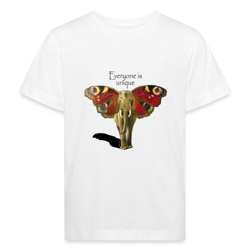Everyone is unique – Schmettefant - Kinder Bio-T-Shirt