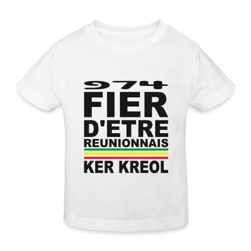 974 ker kreol fier et culture - T-shirt bio Enfant