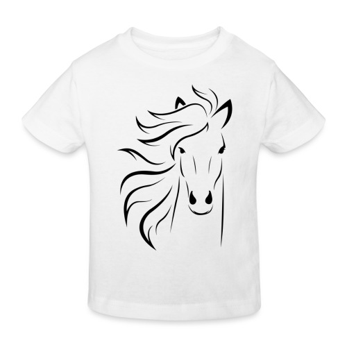 pferd silhouette - Kinder Bio-T-Shirt