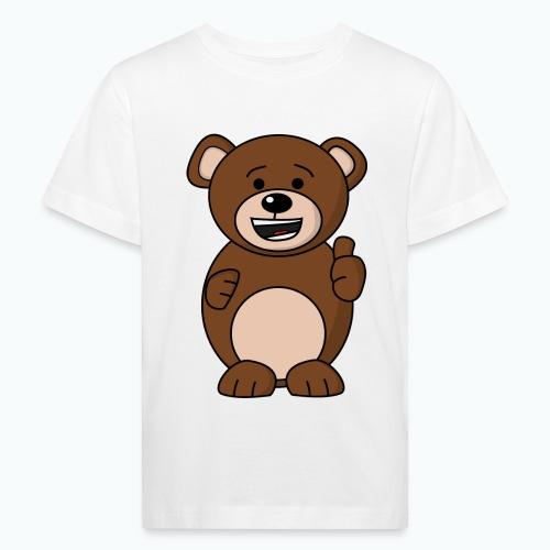 Bruno Bear Happy - Appelsin - Ekologisk T-shirt barn
