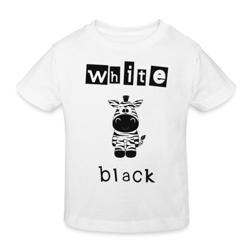 Zebra black or white - Kinder Bio-T-Shirt
