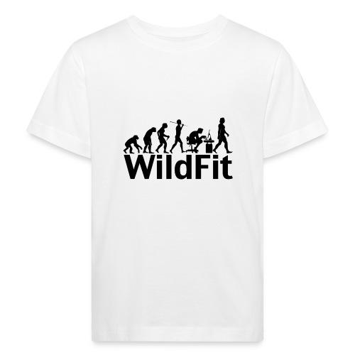 WildFit Logo Evolution in Schwarz - Kinder Bio-T-Shirt