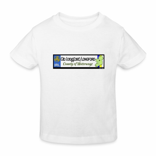 LONGFORD, IRELAND: licence plate tag style decal - Kids' Organic T-Shirt