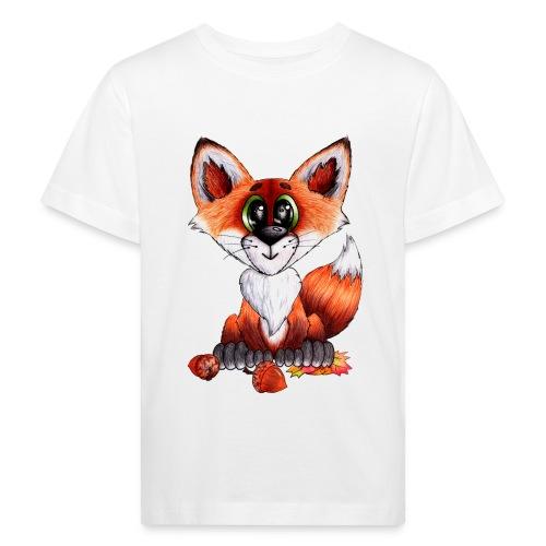 llwynogyn - a little red fox - Kinder Bio-T-Shirt