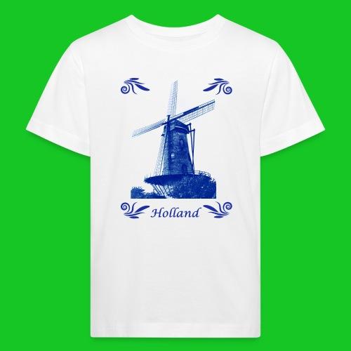 Delfts Blauw Molen - Kinderen Bio-T-shirt
