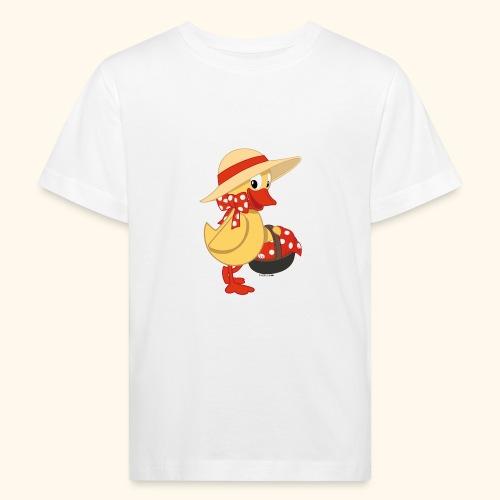 Schnatterinchen mit Korb - Kinder Bio-T-Shirt