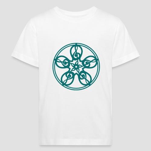 Treble Clef Mandala (teal) - Kids' Organic T-Shirt