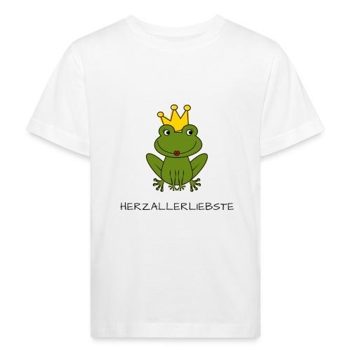 Froni mit Schriftzug Herzallerliebste (schwarz) - Kinder Bio-T-Shirt