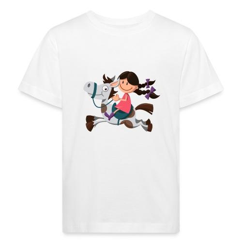 vl099a_pferdemaedchen_4c - Kinder Bio-T-Shirt