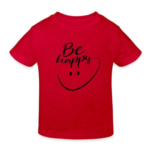 Be Happy With Hand Drawn Smile - Kids' Organic T-Shirt
