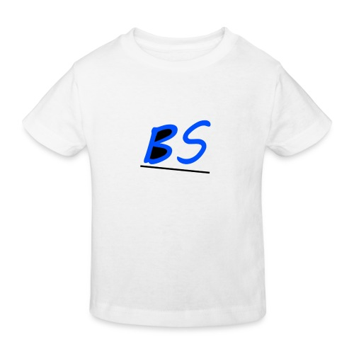 witte bs logo van youtuber Sven.B twitcher BSven. - Kinderen Bio-T-shirt