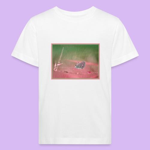 Farfalla nella pioggia leggera - Maglietta ecologica per bambini