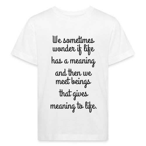 Phrase d'amour en anglais - T-shirt bio Enfant