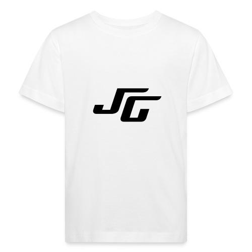 JG Logo schwarz - Kinder Bio-T-Shirt
