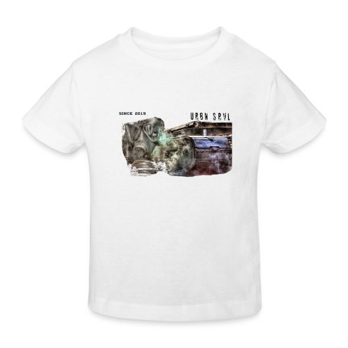 gas mask 2 black - Kinder Bio-T-Shirt