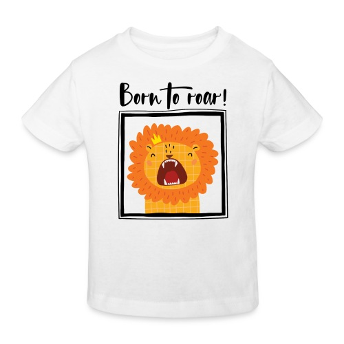 born to roar frame black - Kinder Bio-T-Shirt