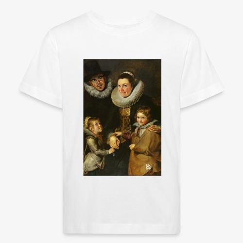 familie-engels2-canvas - Kinderen Bio-T-shirt