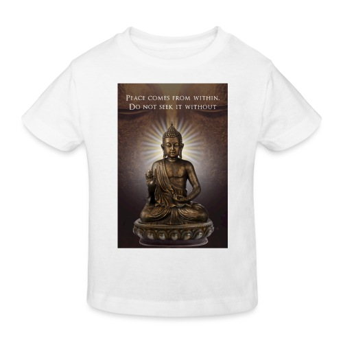 Peace from Within - Kids' Organic T-Shirt