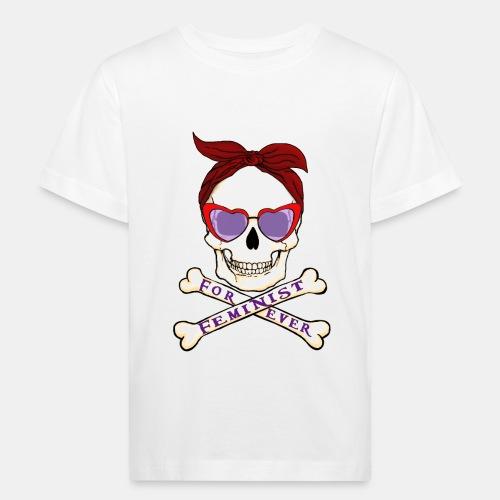 Feminist skull - Camiseta ecológica niño