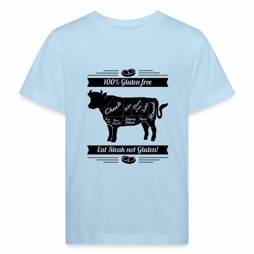 Humorvolles Design für Fleischliebhaber - Kinder Bio-T-Shirt