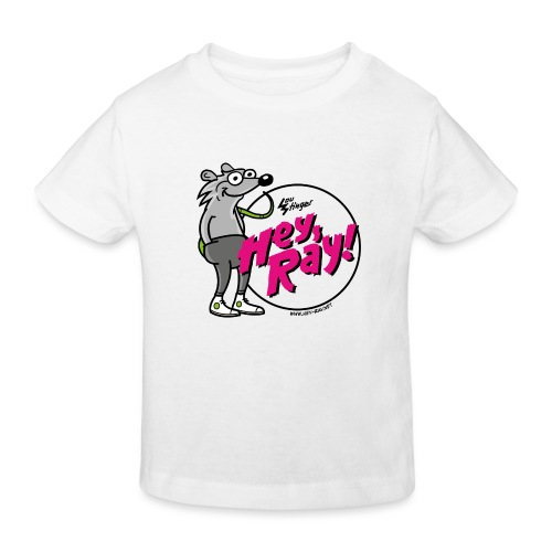 Hey Ray! Logo magenta - Kinder Bio-T-Shirt