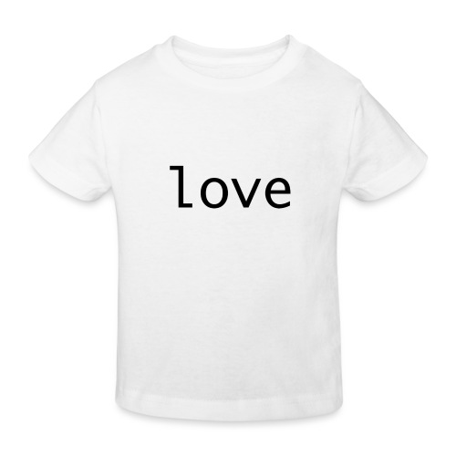 love - Ekologisk T-shirt barn