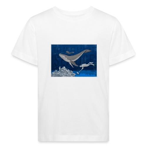 Ocean cleaning service. bluecontest - Organic børne shirt