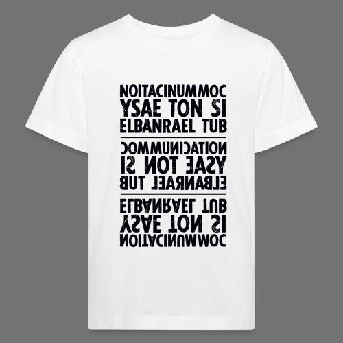 viestintä musta sixnineline - Lasten luonnonmukainen t-paita
