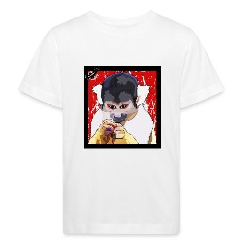 'Clever Monkey 2' by BlackenedMoonArts, w. logo - Organic børne shirt