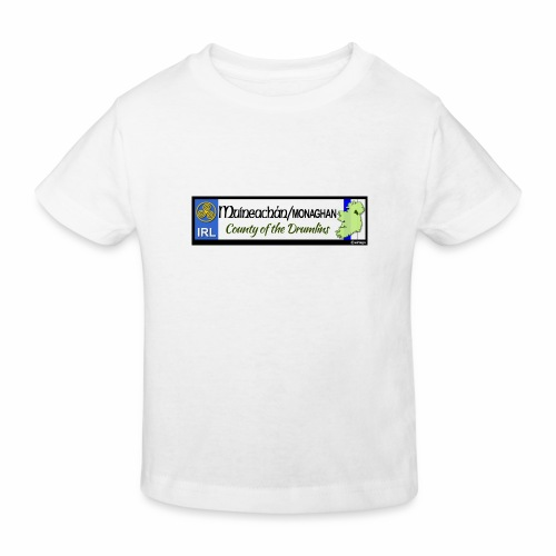 MONAGHAN, IRELAND: licence plate tag style decal - Kids' Organic T-Shirt