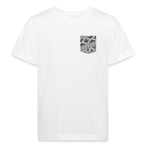 Poche Aztec blanc sur n - T-shirt bio Enfant