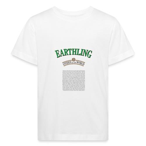 Earthling - Citizen of the World - Ekologisk T-shirt barn