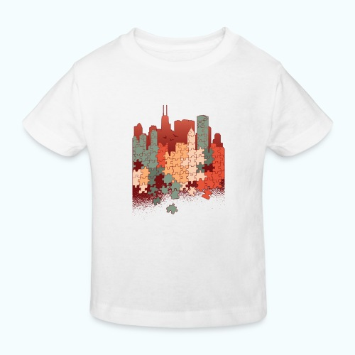 Puzzle fan - Kids' Organic T-Shirt