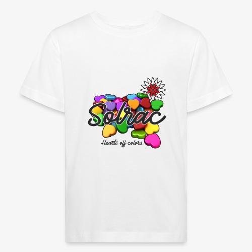 SOLRAC Hearts White - Camiseta ecológica niño