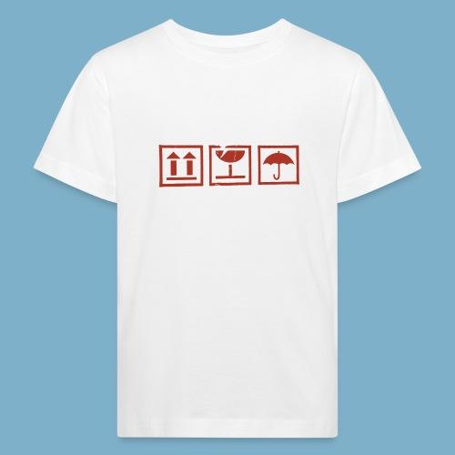 Zerbrechlich - Kinder Bio-T-Shirt