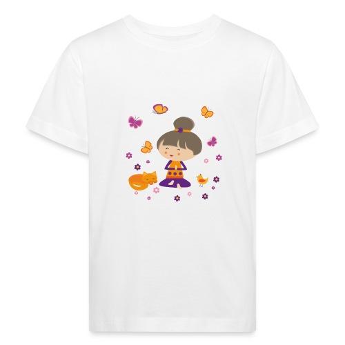 Happy Meitli - Yoga und Meditation - Kinder Bio-T-Shirt
