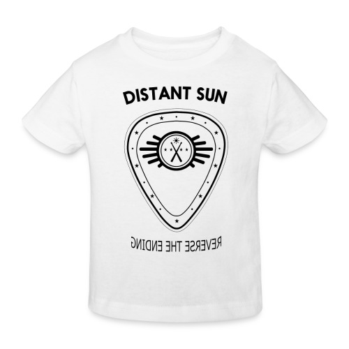 Distant Sun - Mens Slim Fit Black Logo - Kids' Organic T-Shirt