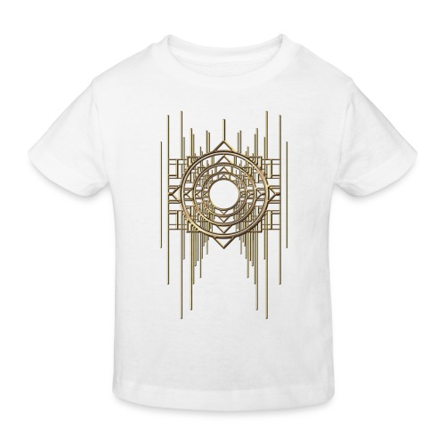 Abstract Geometry Gold Metal Art Deco Vintage - Kids' Organic T-Shirt