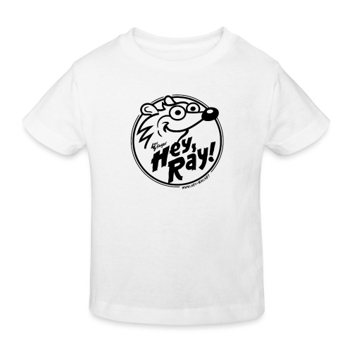 Hey Ray Logo black - Kinder Bio-T-Shirt