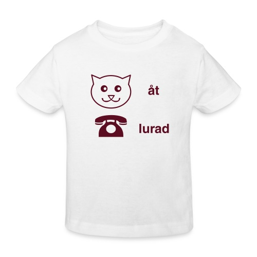 Katt åt telefon - Ekologisk T-shirt barn