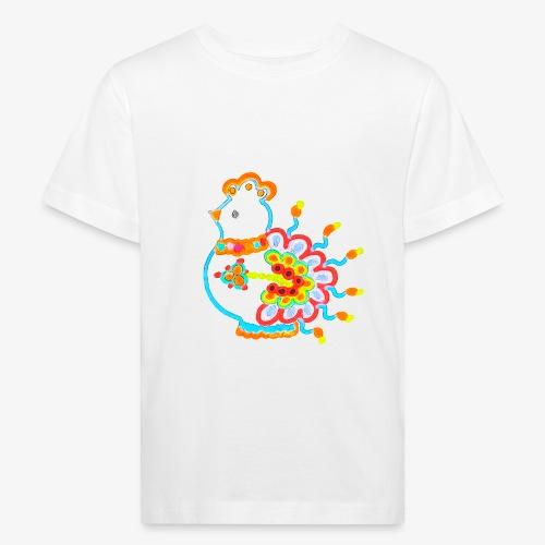 Vogel neon bunt - Kinder Bio-T-Shirt