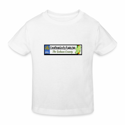 CARLOW, IRELAND: licence plate tag style decal - Kids' Organic T-Shirt
