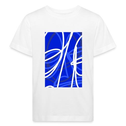 FRTZNABSTRCTN Blau (#176) - Kinder Bio-T-Shirt