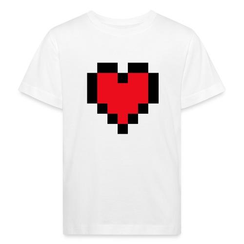 Pixel Heart - Kinderen Bio-T-shirt